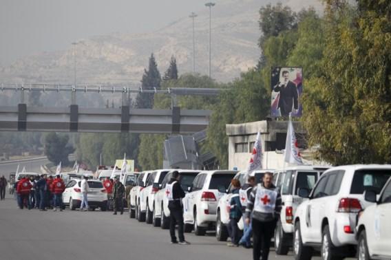 Hulpkonvooi op weg naar uitgehongerde Syrische stad