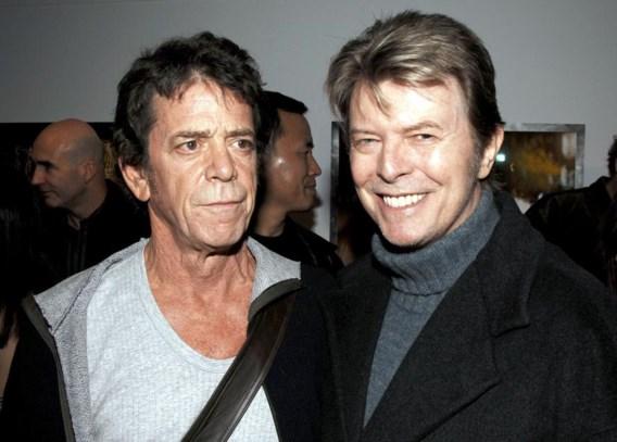 David Bowie en Lou Reed op een fototentoonstelling in New York, 19 januari 2006.