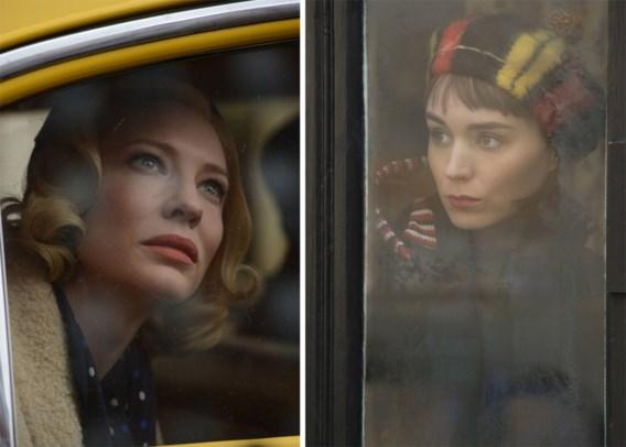 Cate Blanchett (links) is weergaloos als de bourgeoisdame die verliefd wordt op een verkoopster in een grootwarenhuis (Rooney Mara, rechts).