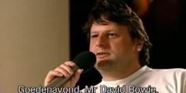 Luc De Vos interviewt David Bowie