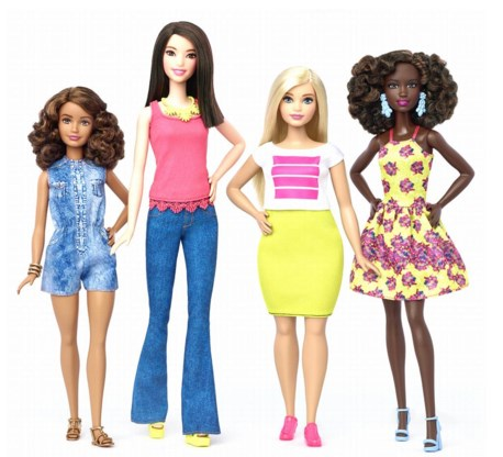 Barbies in alle kleuren en maten.