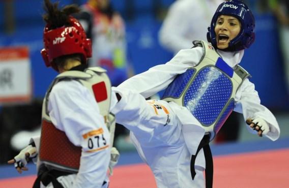Raheleh Asemani in actie toen ze nog voor Iran uitkwam. Ze hoopt binnenkort voor België medailles te halen.