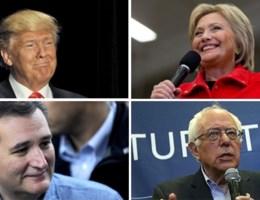 Clinton vs. Sanders vs. Trump vs. Cruz
