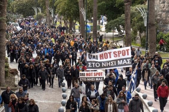 Nieuwe betoging tegen oprichting hotspot op eiland Kos