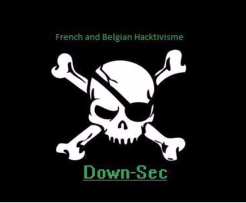 Zo maakt DownSec. duidelijk dat een site gehackt is.