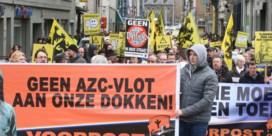 Betogingen voor en tegen opvang vluchtelingen in Gent