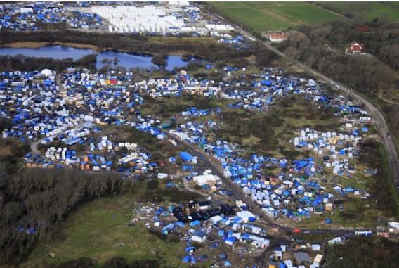 Het vluchtelingenkamp in Calais.