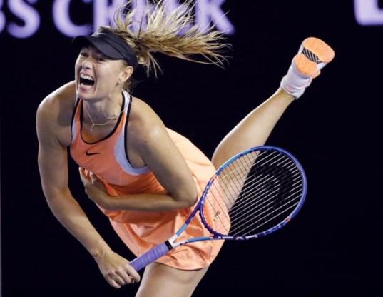 Sharapova in actie: het beeld zal een tijd niet te zien zijn.