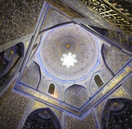 Een van de hoogtepunten op de Zijderoute: de Gur-e Emir in Samarkand, Oezbekistan.