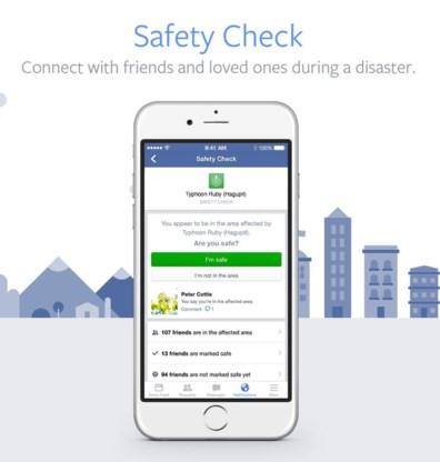 Veiligheidscheck op Facebook, #ikwilhelpen op Twitter