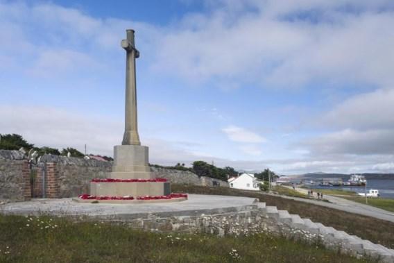 """<p>Het monument voor de gesneuvelde Britten op de Falklands.<span class=""""credit"""">belga</span></p>"""