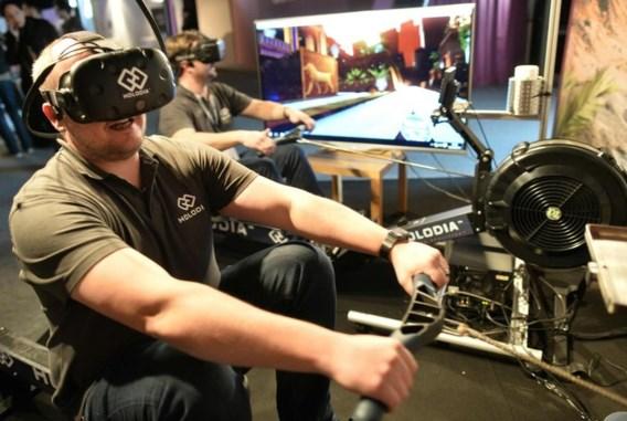 "<p>Virtual reality kan ook een saaie fitnessbeurt interessanter maken. <span class=""credit"">afp</span></p>"
