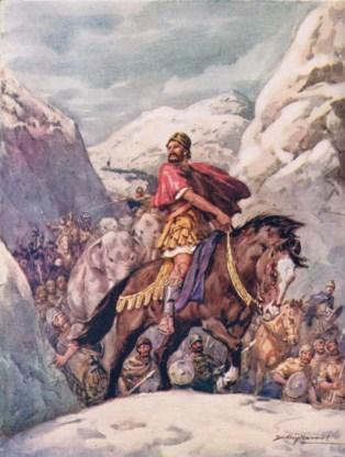 Hannibals troepen kregen het meermaals aan de stok met bergstammen.