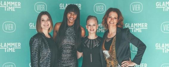Annelore De Donder, Elodie Ouedraogo, Marijke Respeel en Karen Damen in 'Glammertime': lachen met de showbizz is toegelaten.