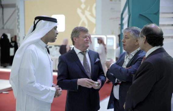 Francis Vanhoof (midden), minister Jo Vandeurzen en ceo Dr. Haidar van de Dubai Health Authority (links).