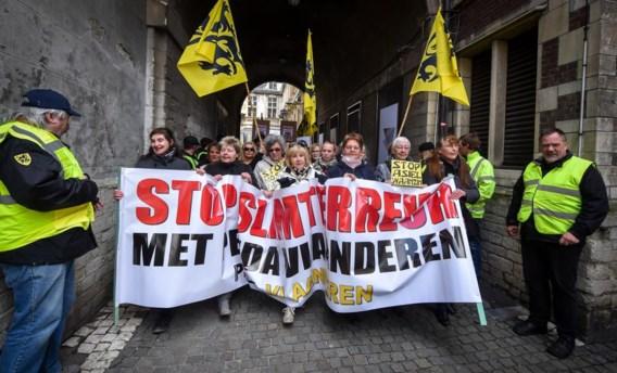 Pegida betoogde vorige zaterdag in Antwerpen. Meer dan een paar honderd mensen kon de organisatie voorlopig niet op de been brengen.