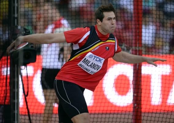 Discuswerper Philip Milanov blijft 2cm onder Belgisch record