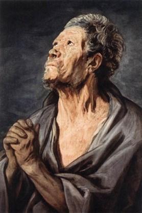 'Hoofd van een apostel' van Jacob Jordaens.