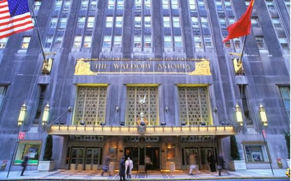 Ook het prestigieuze Waldorf Astoria hotel in New York is in handen van het Chinese concern.
