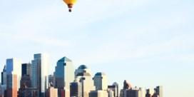 Een ballon boven Manhattan