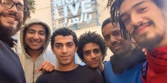 """<p>De zes jongeren van de groep Straatkinderen. Vier van hen zijn gearresteerd.<span class=""""credit"""">rr</span></p>"""