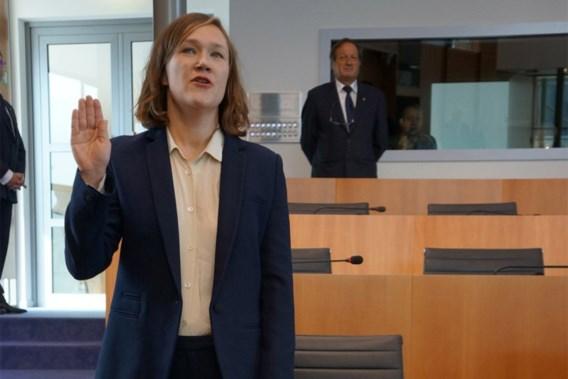 Hannelore Goeman legt eed af als SP.A-lid Brussels Parlement