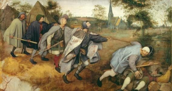 Pieter Bruegel, 'De parabel van de blinden', 1568: treffend beeld van de menselijke dwaasheid. Museo di Capodimonte, Napels.