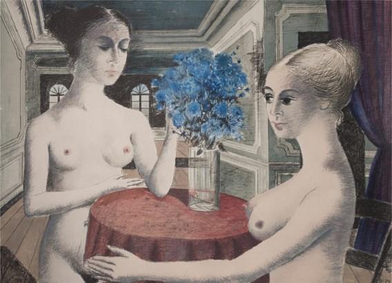'De stilte', een kleurenlitho uit 1972.