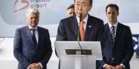 Ban Ki-moon herdenkt slachtoffers op Brussels Airport