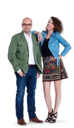 Sven Ornelis en Anke Buckinx presenteren het ochtendblok.