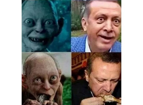 Turkse man die Erdogan vergeleek met Gollem krijgt één jaar voorwaardelijk