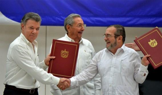 Colombiaanse regering en Farc-rebellen sluiten wapenstilstand na 50 jaar oorlog