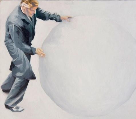 Koen Fillet, 'De man die de leegte voortduwt', gemaakt voor de expo 'Borderline times'.