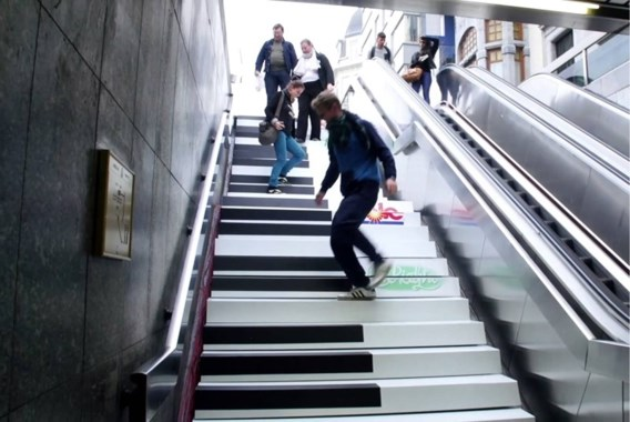 Pianotrap in Rotterdams Centraal Station geopend
