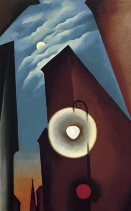Georgia O'Keeffe, 'New York street with moon', 1925.