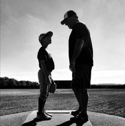 Sean Copeland en zijn zoon Brodie.