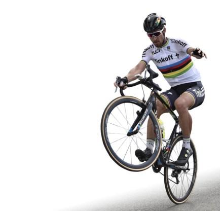 Sagan is buitengewoon behendig met een fiets.
