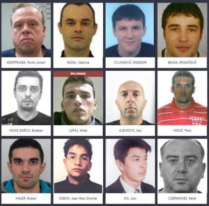 De onlinelijst van Europol vermeldt 42 zware criminelen.