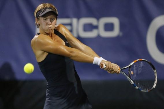 Geen dubbelfinale voor An-Sophie Mestach