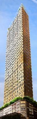 Trätoppen in Stockholm(Zweden)door: Anders Berensson Architectshoogte: 40 verdiepingen (133 meter)status: opdracht stad: ontwerp april 2016uitvoering: onbekend