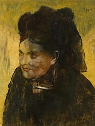'Portrait of a woman' van Edgar Degas.