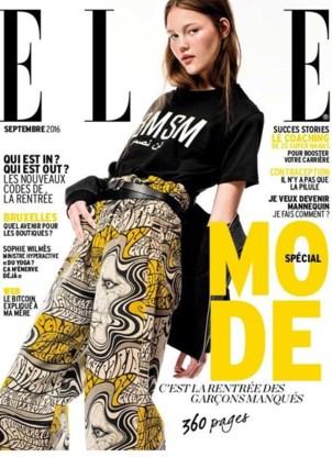 Noor Chaltin siert de cover van het modemagazine Elle.