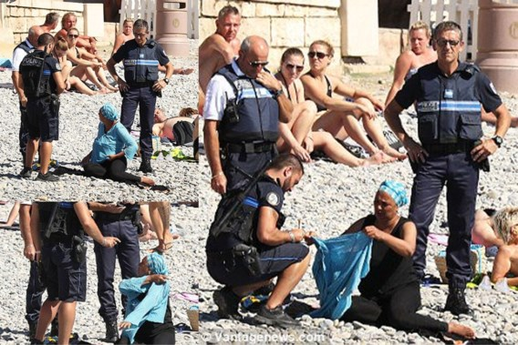 Agenten dwingen moslima tuniek uit te trekken in Nice