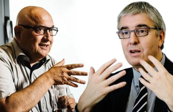 """<p>Rudy De Leeuw versus Pieter Timmermans.<span class=""""credit"""">bart de waele</span></p>"""