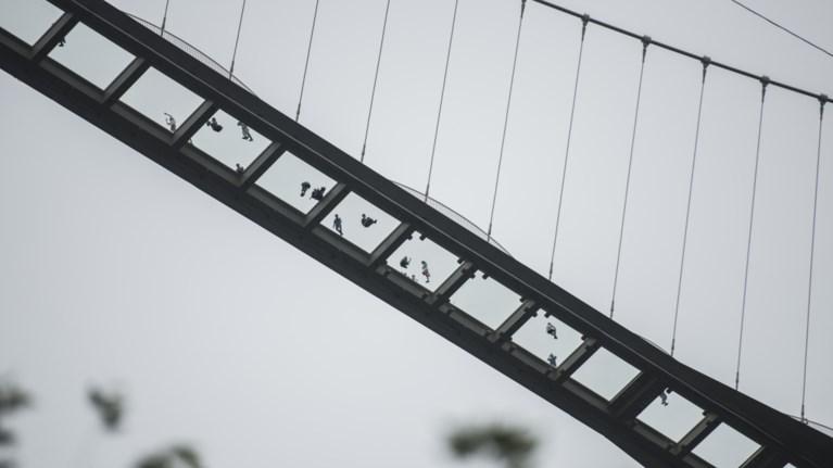 De gesloten glazen brug