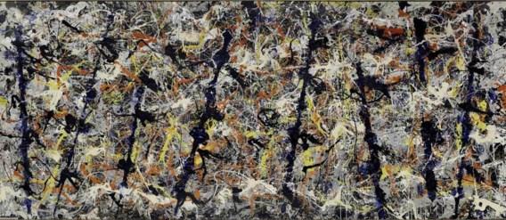 Jackson  Pollock  'Blue poles', 1952.