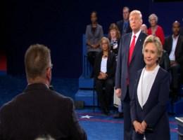 De moeilijkste vraag voor Trump en Clinton: 'Zeg iets positiefs over je tegenstander'