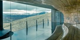 Zien: paviljoen te midden van de Noorse natuur