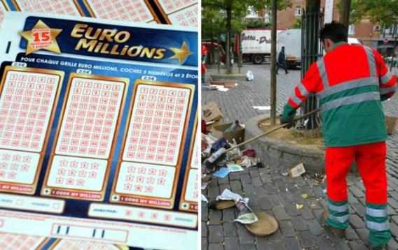 Straatveger die EuroMillions won al vier dagen niet op werk verschenen