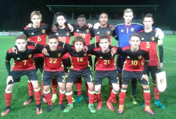 Belgische U16 speelt 1-1 gelijk tegen Portugal